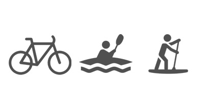 bike, kayak and SUP rentals